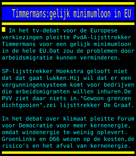test Twitter Media - Timmermans:gelijk minimumloon in EU https://t.co/okUI36WhfS