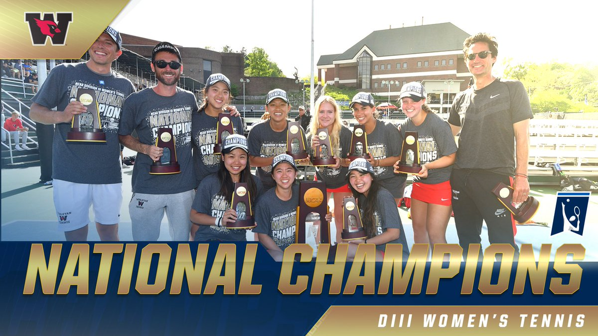 test Twitter Media - RT @NCAA: 1️⃣🏆  With a 5-4 victory, @wes_athletics wins its first women's #d3tennis national championship! https://t.co/oWR1JG1g8x