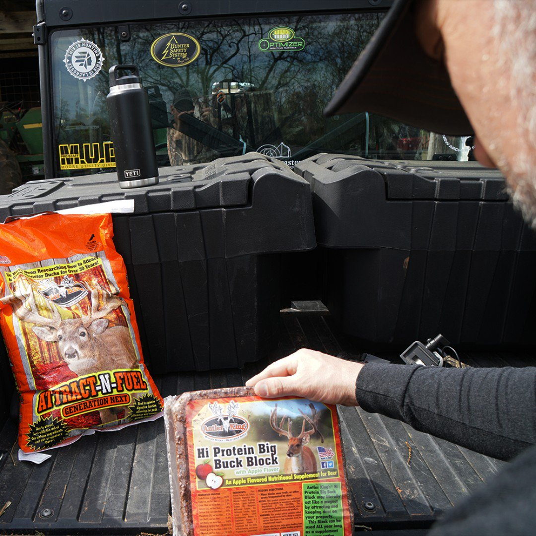 Attractant and protein? Yes please! #antlerking #bowhuntordie https://t.co/YghVPaVcgQ