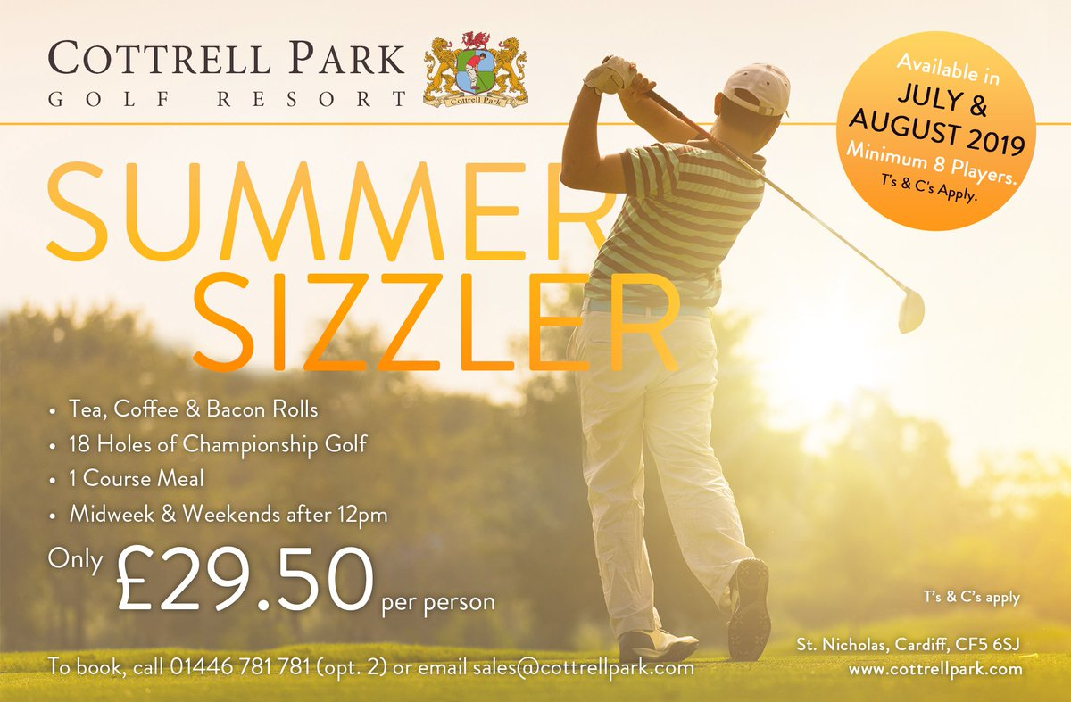 test Twitter Media - Did someone say Summer society day? 🏌️‍♂️☀️  Look no further than our Summer Sizzler deal! It includes everything you need for the day, and for ONLY £29.50 per person  To book your society day; E:sales@cottrellpark.com | T:01446 781781 Opt2 . . #societygolf #cottrellpark #summersun https://t.co/QJczyDe3xQ