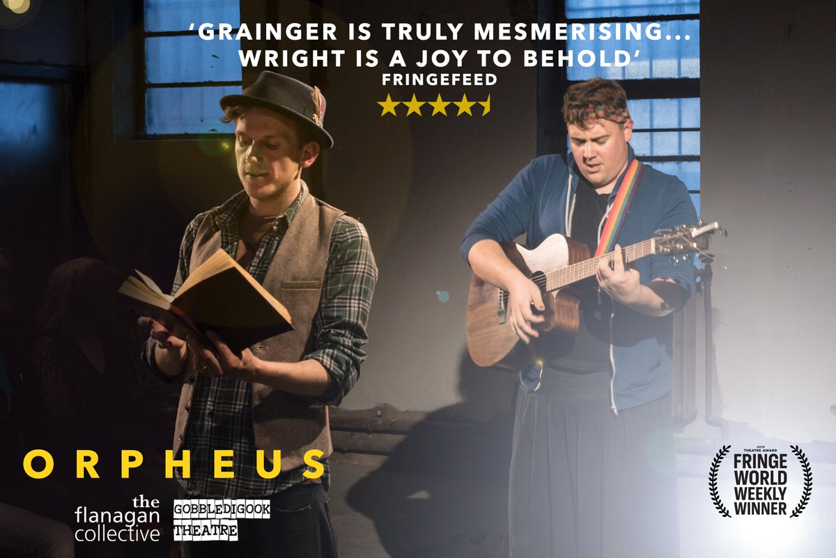 Image for Tonight at 7pm! Join us for Orpheus by the Flanagan Collective. A modern storytelling of an ancient fable that uses theatrical performance with live music to re-imagine this classic tale. £16 for adults, £12 for under 16s. #Performance #Storytelling #Powys #BleddfaCentre https://t.co/G3j1M130WN
