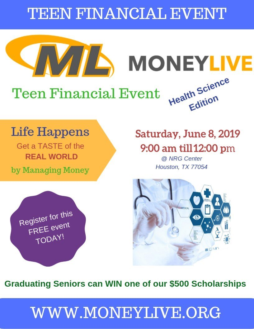 test Twitter Media - MoneyLIVE will be held on Saturday, June 8th from 9:00 am till 12:00 pm at NRG Center.  Registration is open at https://t.co/411bx8P09h  SPREAD THE WORD! #Houston #collegebound #teens #students cafécollege Houston GRADcafe GRADcafe on the Go https://t.co/9cpY1ARC8l