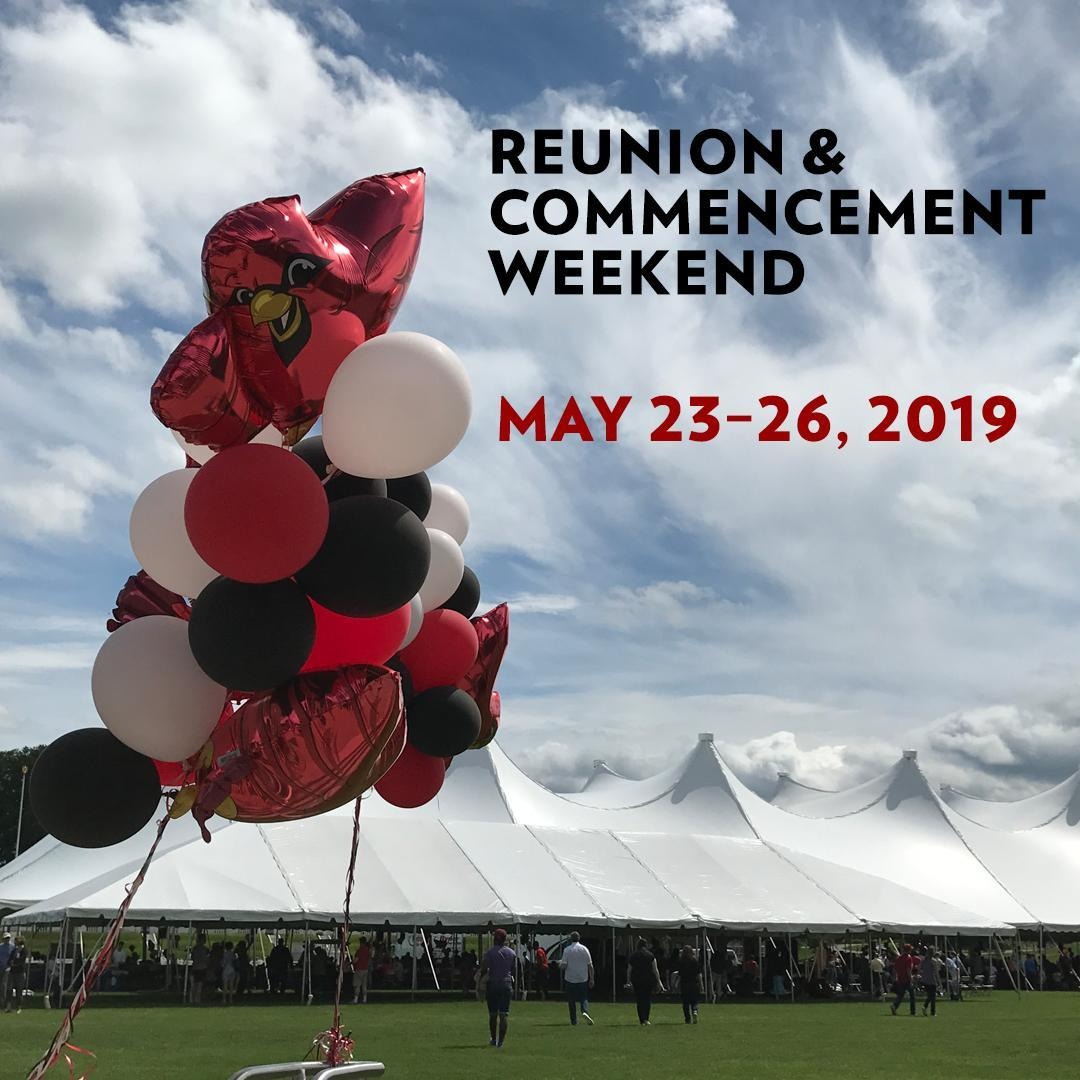 test Twitter Media - Reunion & Commencement is officially here! 🖤❤️  We look forward to celebrating reunion classes ending in a '4' or '9' and the graduating class of 2019! Check out this year's schedule of events, and be sure to tag your posts #WesReunion & #Wes2019 🎓  https://t.co/gsdyOuXarr https://t.co/grgFOkbC6j