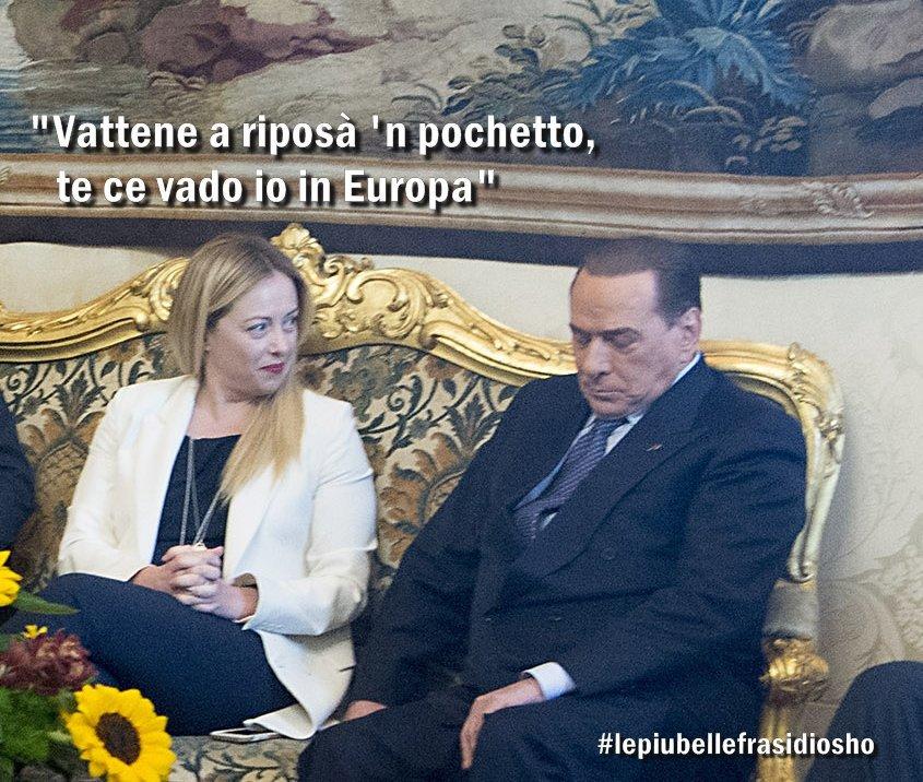 """#ElezioniEuropee, #GiorgiaMeloni scarica il cavaliere: """"Basta con Berlusconi"""" https://t.co/jhXWrYYFFX"""