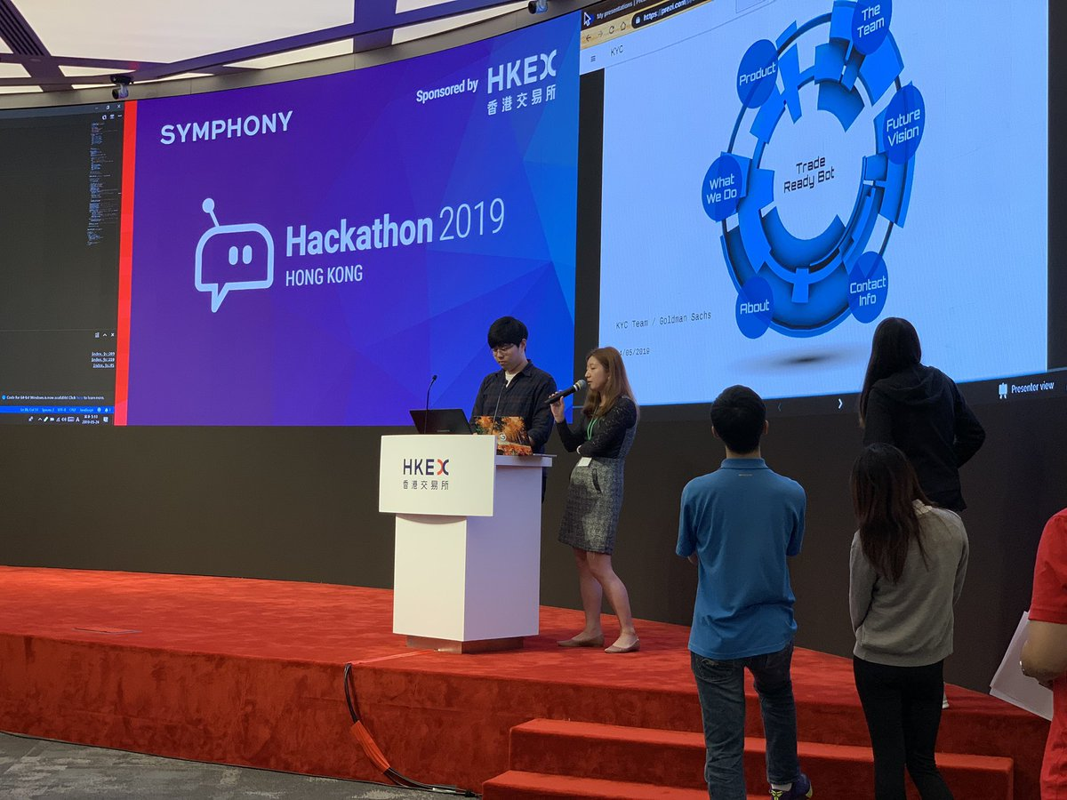 The @Symphony #Hackathon is wrapping up at #HKEXConnectHall. Awards presentation coming up next. #Innovate2019 https://t.co/763LDePmYK