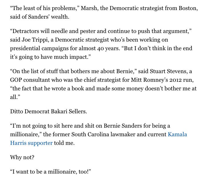 @DavidKlion lol the author tried to find someone who would say this is bad for Bernie but couldn't make it happen https://t.co/pG1I07KK1R