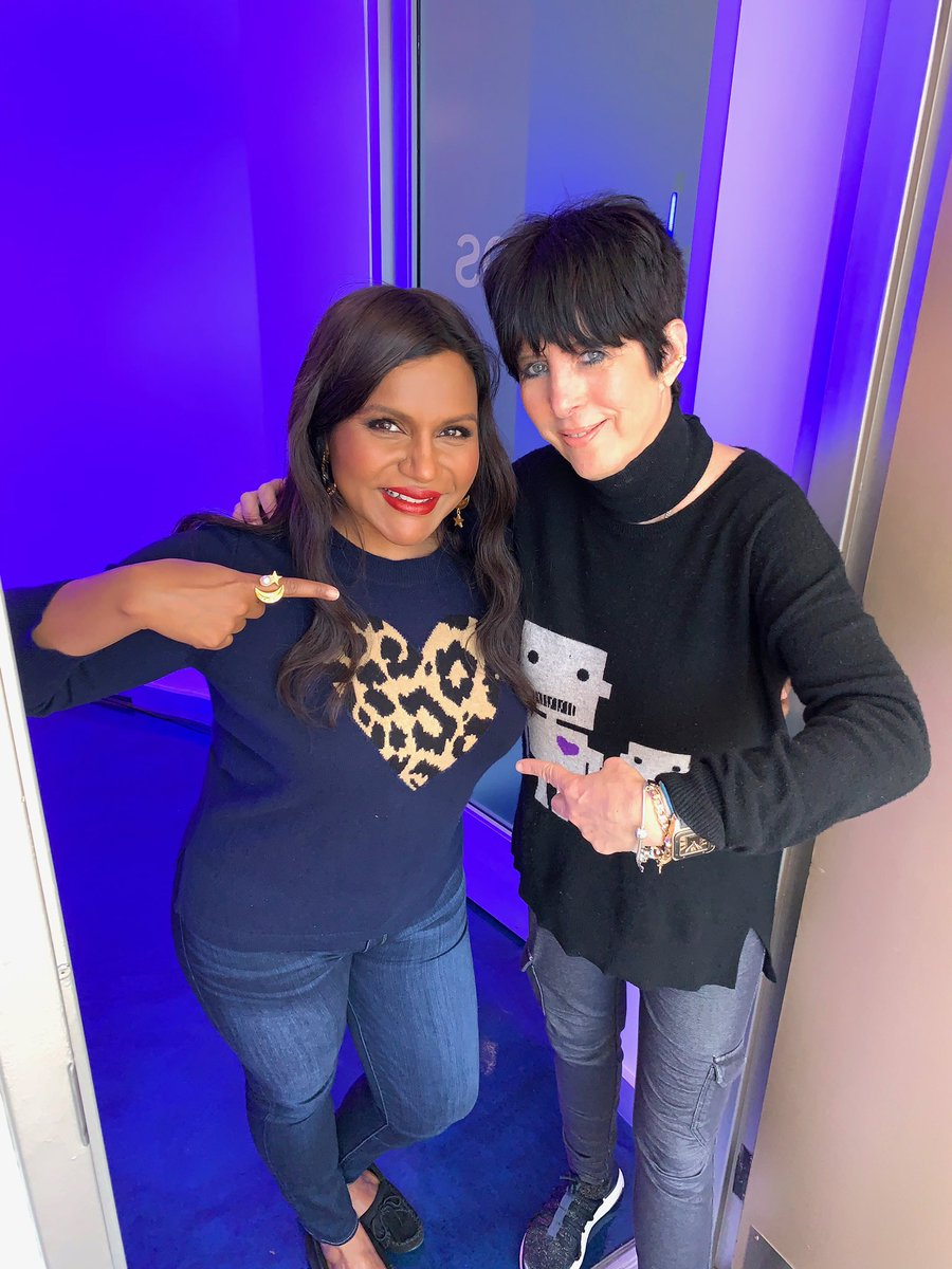 Hanging with this legend @Diane_Warren who wrote the theme song for @LateNightMovie ???????????? (song by @Daya) https://t.co/knd31MlfBF