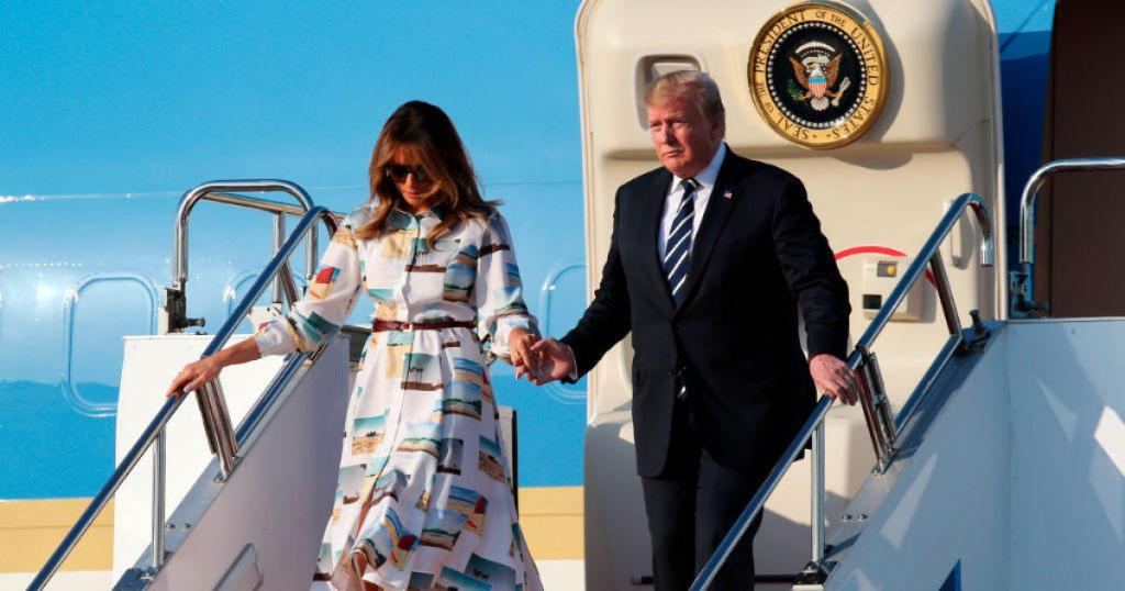 Trump arrives in Japan for high-stakes trade talks