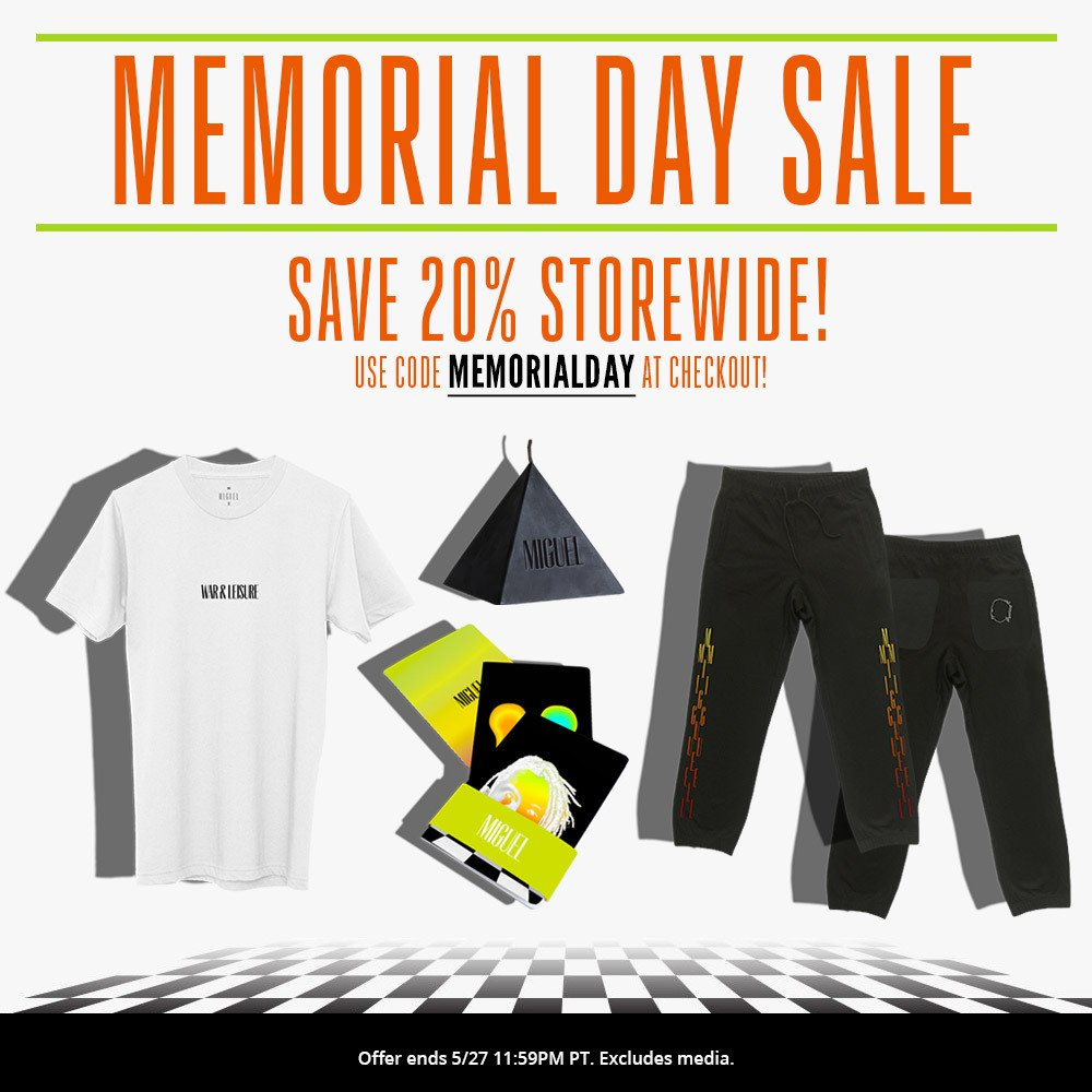 Grab some merch for the summer and use code MEMORIALDAY at checkout to save 20%: https://t.co/dgxnpV5WWD https://t.co/shf12ff2Uu