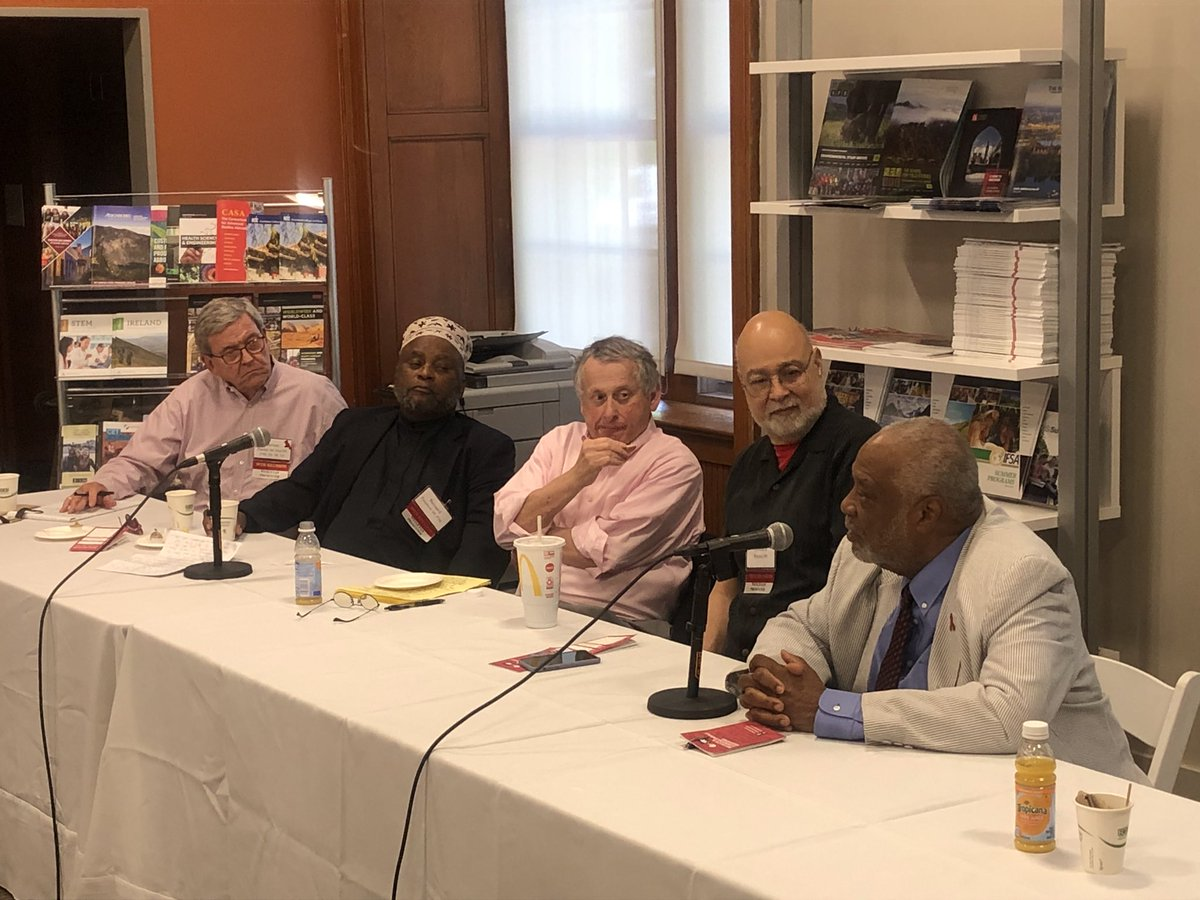test Twitter Media - Moderator Al Young '88 (not pictured) on the panelists from the Vanguard Class of 1969: We have a panel of heroes, both for what they did at Wesleyan, and what they've gone on to do. #WesAfam50 #WesReunion https://t.co/VJAKQP1umK