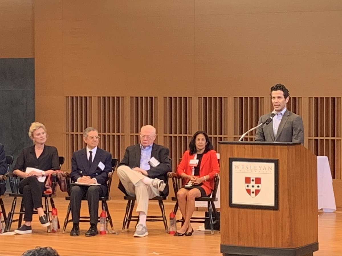"test Twitter Media - Thomas Kail '99, noting the wide range of talents on-stage at the Alumni Award ceremony, calls this ""the most Wesleyan thing ever."" 🌟 #WesReunion https://t.co/vCWokj0Bai"
