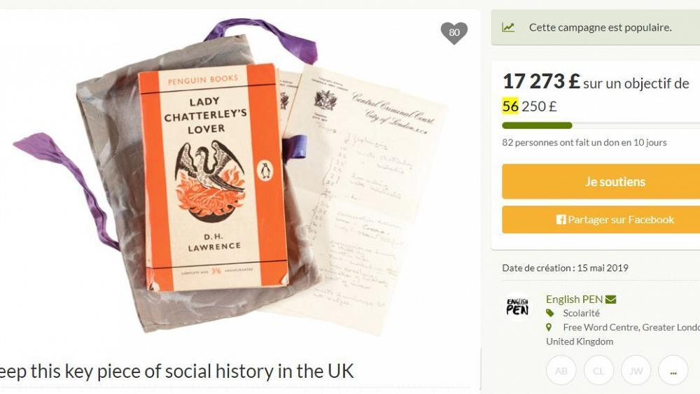 Crowdfunding plea to keep Lady Chatterley's Lover in UK