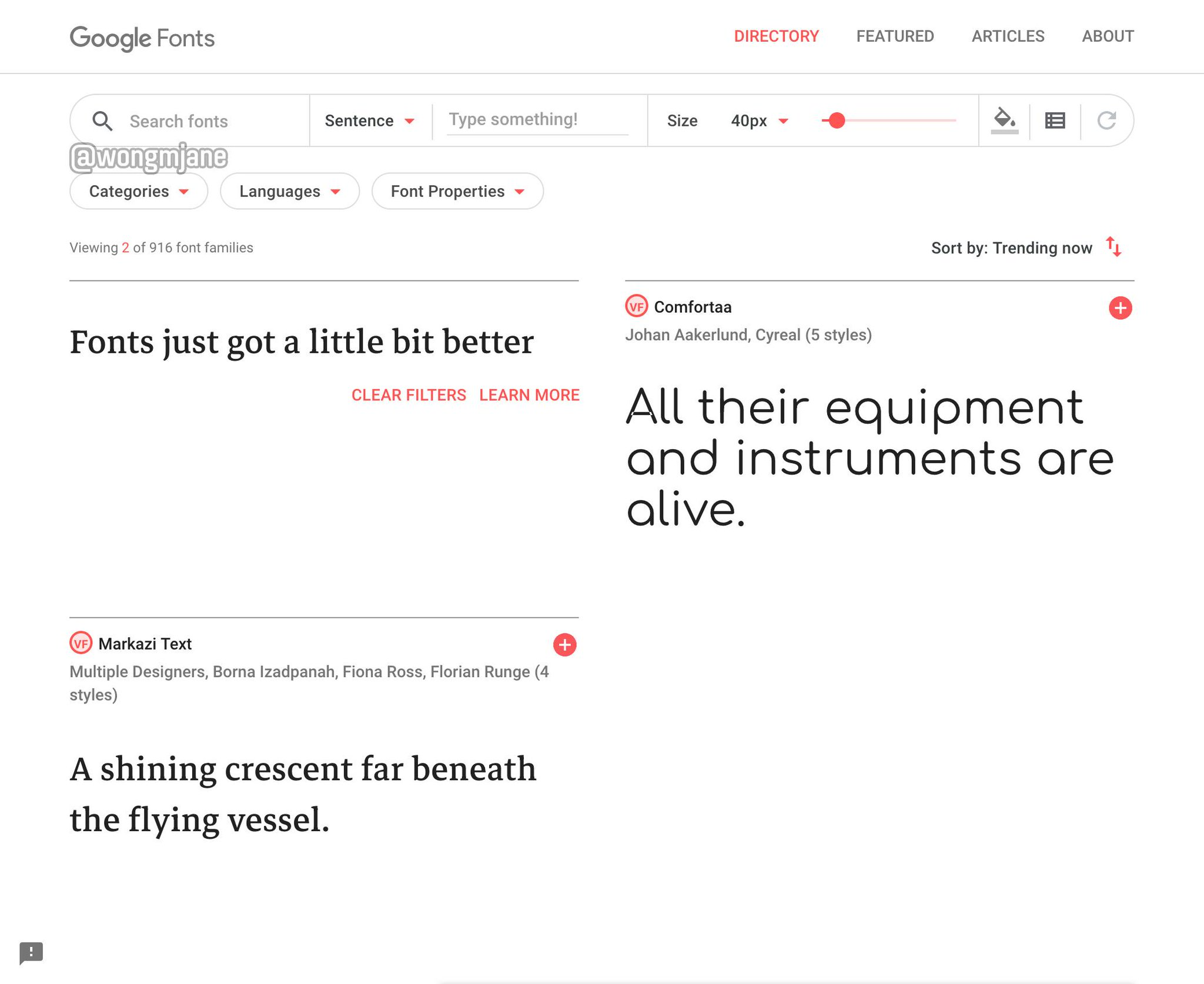 Google Fonts to ship variable fonts and redesigned UI https://t.co/s0wGk3wVEA