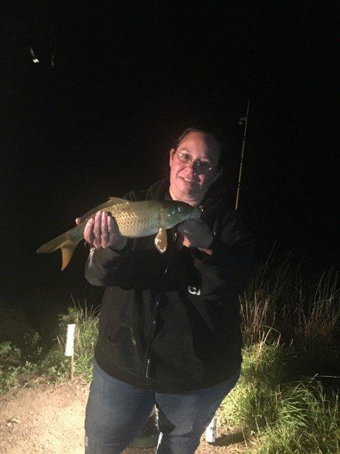 My wife with the carp that she <b>Caught</b> Saturday night. #Fishing #carpfishing https://t.co/9Adt