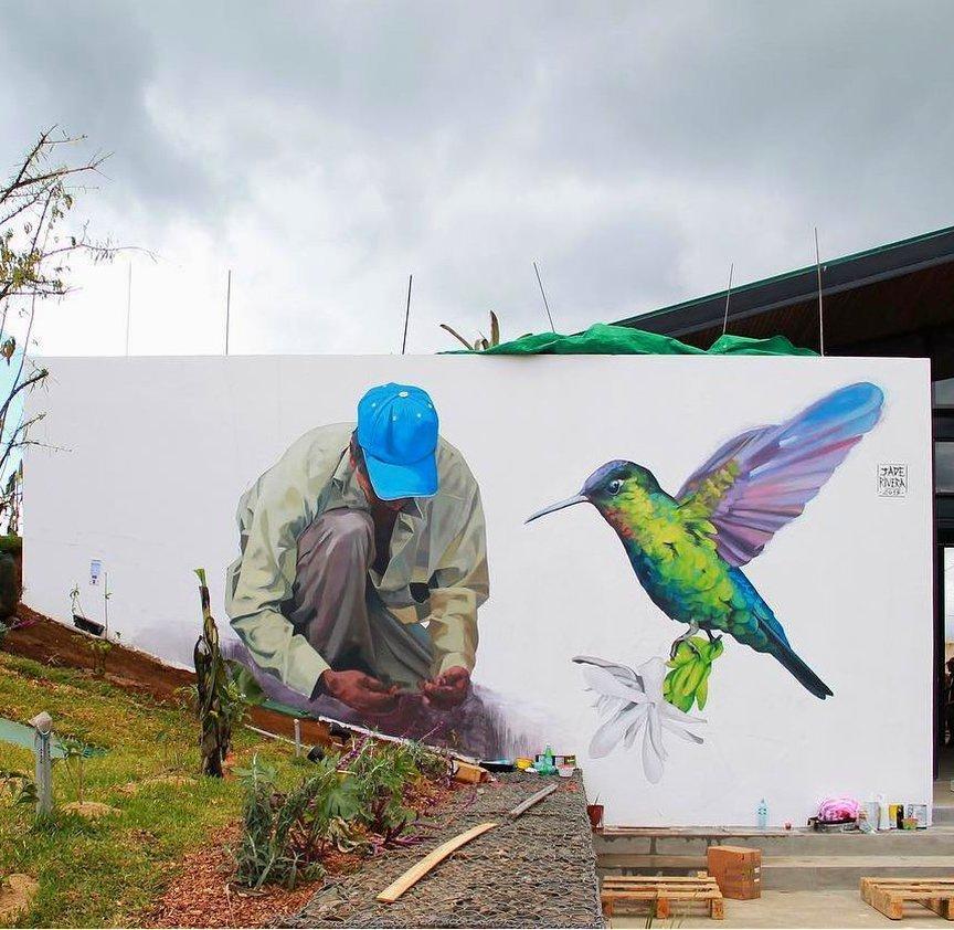 Be a rebel, be yourself!Take your dream and leave your mark!Goodmorning! Jade Rivera #Costarica #Birds #StreetArt #Art #Warrior #Graffiti #Goodmorning #Rebel #BeYourself #writerscommunit #LeaveYourMark #FollowYourHeart #UrbanArt #Colors #Mural #BeBrave #BreakTheWall #SprayArt https://t.co/qMZQox1kkN