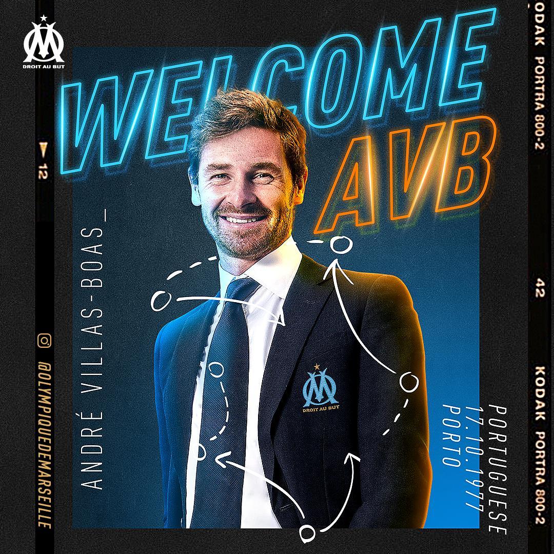 Bienvenue à notre nouvel entraîneur, André Villas-Boas  🔵⚪️ #WelcomeAVB #OMnation
