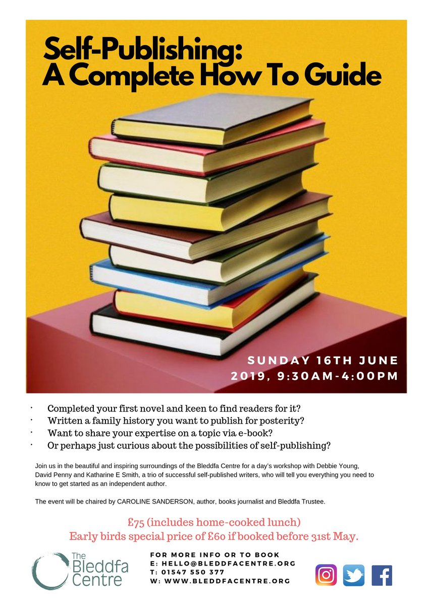 Image for Join us for a Self-Publishing workshop on Sunday 16th June. See our website for more info: https://t.co/B6r4oDSGAa  #SelfPublishing #author #writing #workshop #publishing #books #Powys #RealMidWales https://t.co/GRV783szCI
