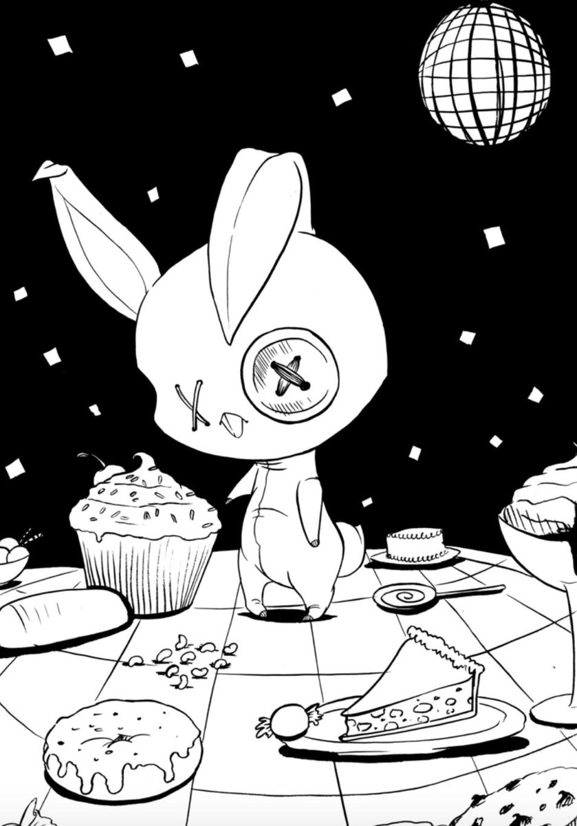 Who is this sweets-obsessed bunny???   Let's start by naming them. All ideas go here: https://t.co/Lllti5CGKj https://t.co/lonYfi8NFo