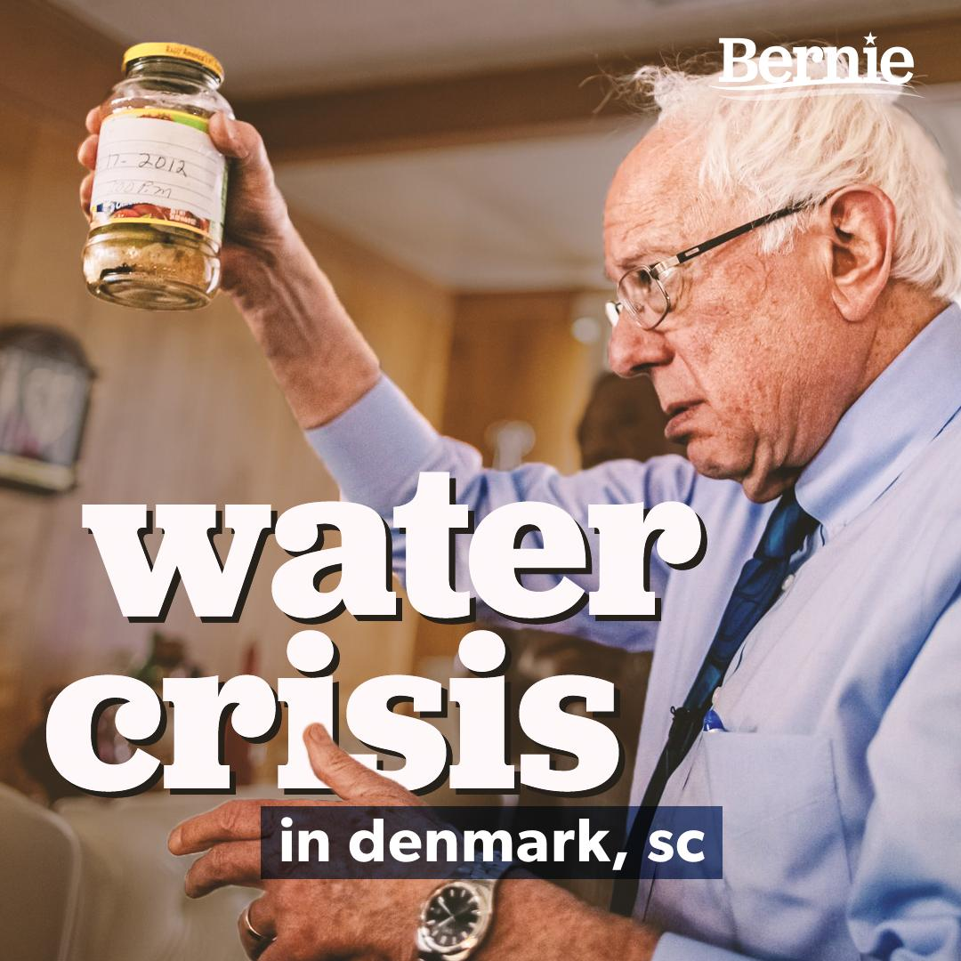 No one in South Carolina or anywhere else in America should worry about whether they will have clean water when they turn on the tap.  With the Green New Deal, we will ensure clean water is a right.