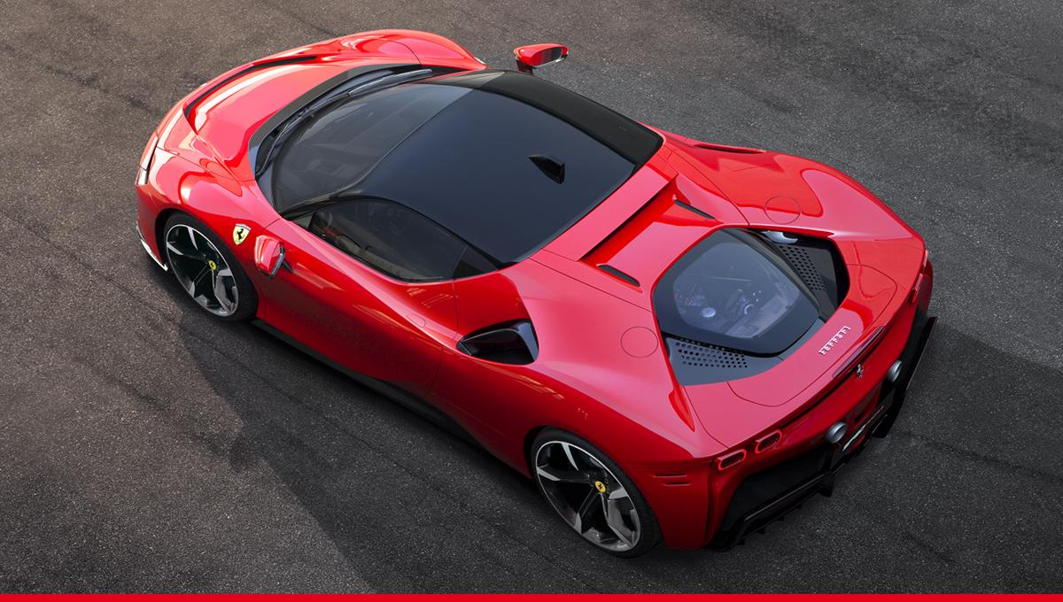 フェラーリのハイブリッドスーパーカー「SF90ストラダーレ」が空飛びそう