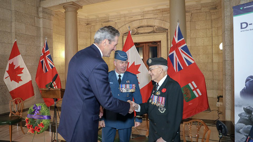 test Twitter Media - June 6th we commemorate the 75th anniversary of D-Day. Yesterday I joined The Honourable Janice Filmon, Lieutenant Governor of Manitoba and distinguished veterans and members of the Canadian Armed Forces to honour the men & women who gave the ultimate sacrifice for our freedom. https://t.co/GwuhnuGzU9