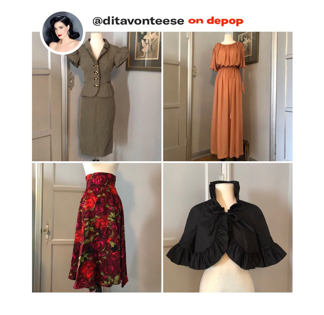 Don't miss my new @Depop listings! Shop my closet, plus #Burlesque memorabilia: https://t.co/dX4RZWq1IU https://t.co/rgzlxKKPRd
