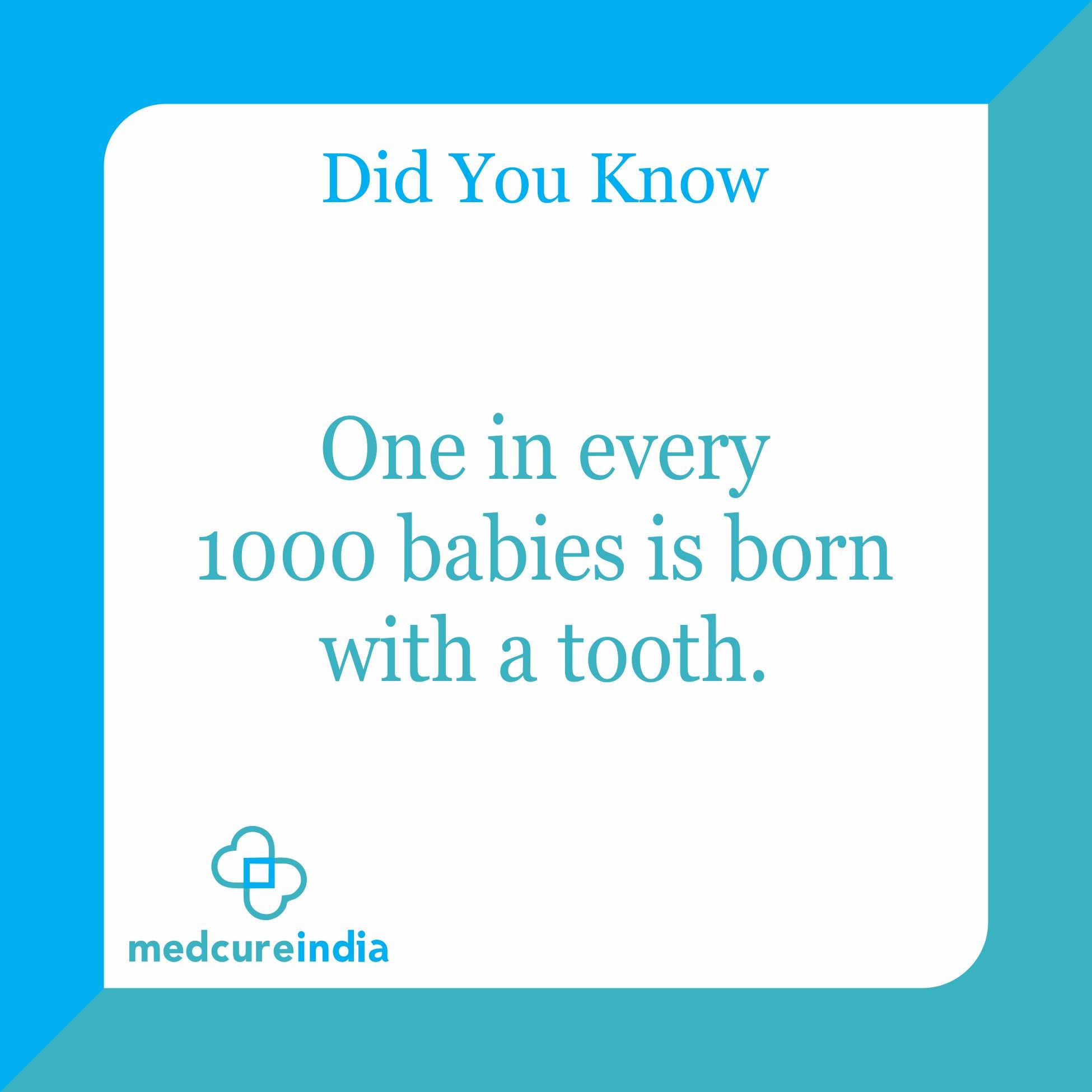 #DidyouKnow One in Every 1000 babies is born with a #tooth.  #medcureindia #hospital #WednesdayWisdom #WorldDayAgainstChildLabour #rainbow #dental #peditric #COSMETICS #thailand #usa #Tanzania #Ghana #Kenya #Africa #africangirl #africangirls #dentalhygiene https://t.co/Je5xB8M4pY