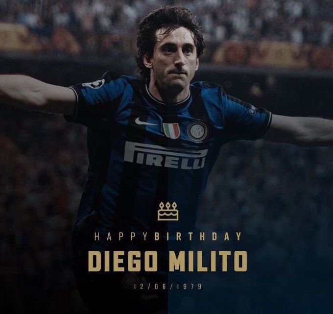 Happy Birthday Diego Milito will always be our prince .. We have made history together ..