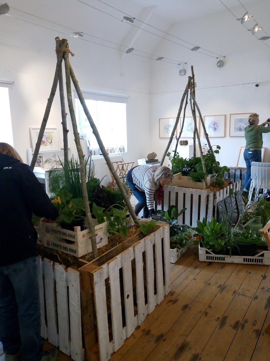 Image for There's a hive of activity in the gallery this week as we prepare for the opening of our brand new exhibition, 'Potager'. Opening Saturday at 11am! #exhibition #art #gardening #plants #flowers #artists #growers #RealMidWales #Powys https://t.co/mrY3iaF50r
