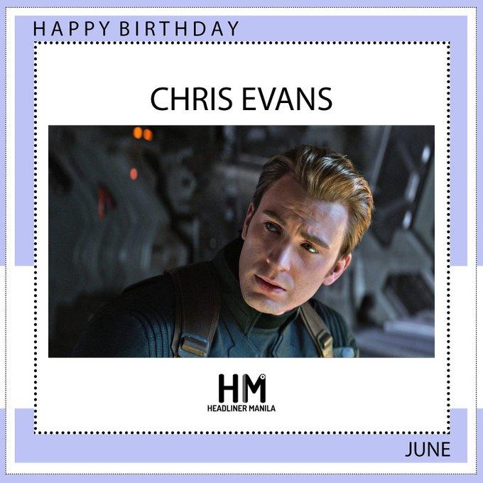 Happy birthday our Captain America, Chris Evans!