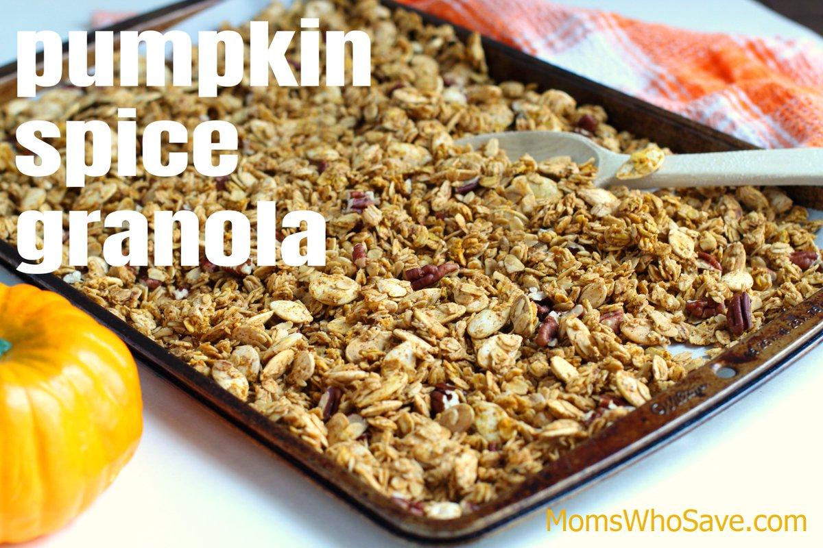 RT @MomsWhoSave: Pumpkin Spice Granola Recipe (Gluten-Free)  👉    #recipes #glutenfree