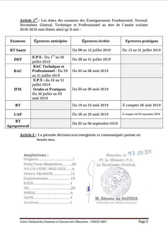 test Twitter Media - RT @julacesar: Les dates officielles des examens de fin d'année au Mali.  #Mali  #education  #examens https://t.co/kgW7uFzMHT