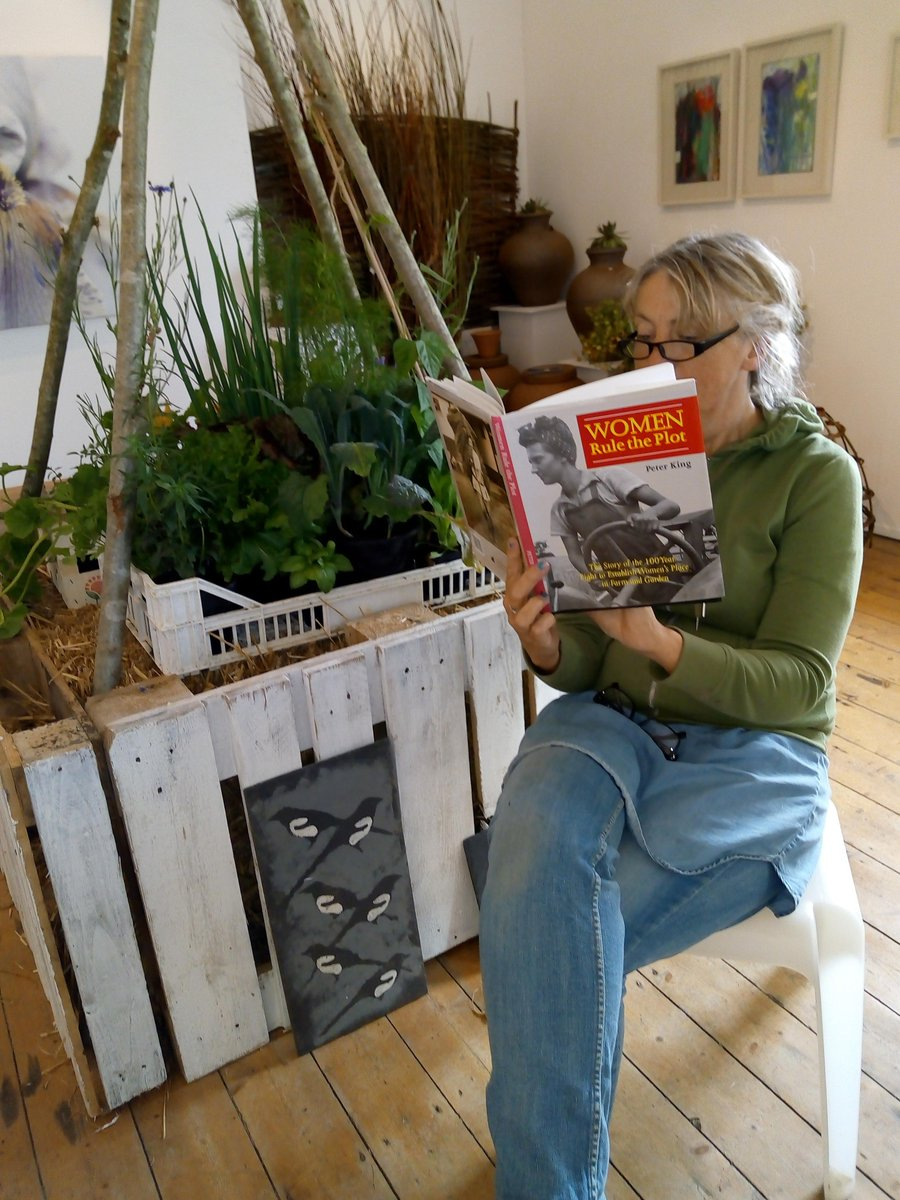Image for Designer of 'Potager' installation at the Bleddfa Centre busy at work! #exhibition #horticulture #garden #art #RealMidWales #Powys https://t.co/TRsKjY1sUf