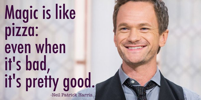 Always find the magic in life! Happy birthday to the talented Neil Patrick Harris.