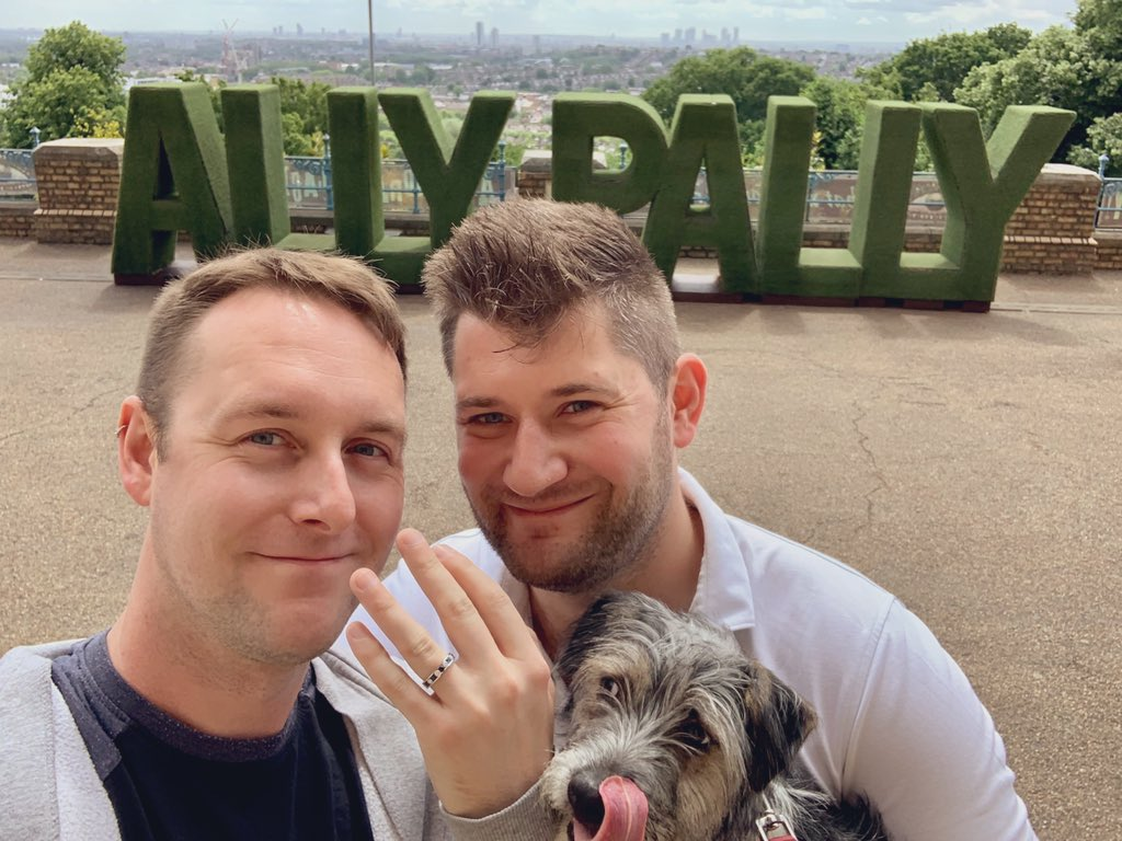 """Dear reader,   He asked, and I said """"yes"""".   #LoveIsLove #PrideMonth #IMGETTINGMARRIED"""