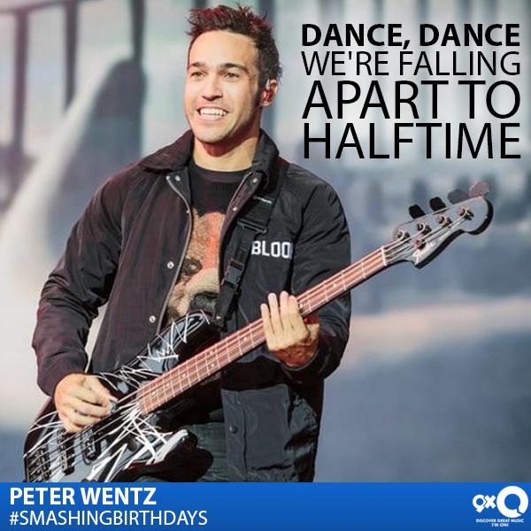 . \Big Guitar\ player Peter Wentz celebrates his today! Happy Birthday Peter!
