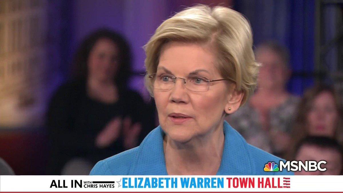 God damn Elizabeth Warren is on point here.