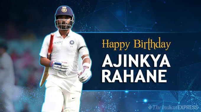 India\s Test vice-captain turns 31 today. Here is wishing Ajinkya Rahane a very happy birthday