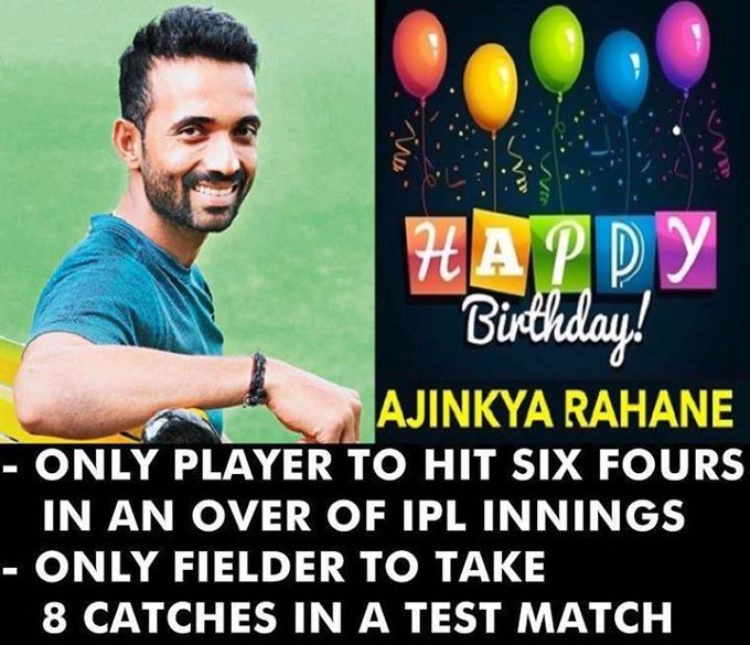 Happy Birthday, Ajinkya Rahane