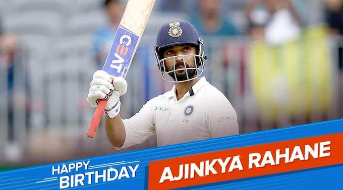 Happy birthday to my favorite batsmen ajinkya rahane