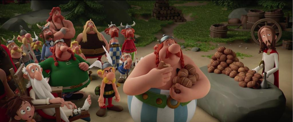 """In """"Asterix: The Secret of the Magic Potion""""..."""