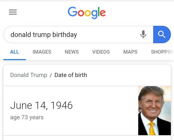 Happy birthday to Donald Trump