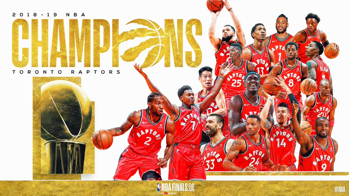 RT @NBA: The @Raptors are the 2019 NBA Champions! #WeTheNorth https://t.co/nooya0x6Db