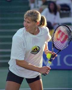 Happy 50th birthday Steffi Graf , the best female athlete ever