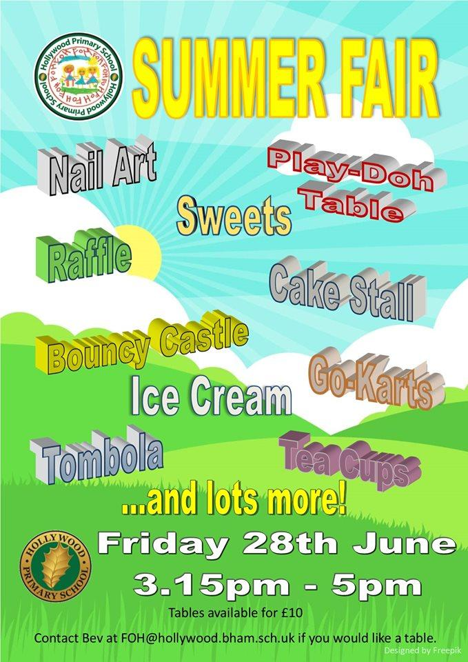 test Twitter Media - Hollywood Summer Fair - come along on Friday 28th June from 3.15pm and support our Friends of Hollywood Summer Fair. We are asking for donations of tombola prizes on Friday 21st June, which will be a non-uniform day for children. https://t.co/YXdgRYnjHt