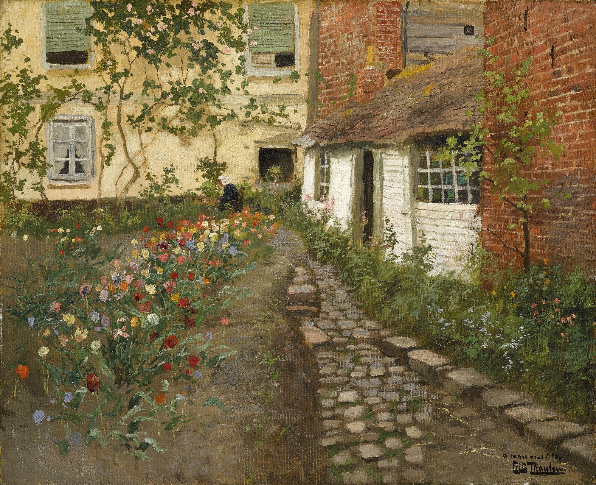 Frits Thaulow - A Garden Path. https://t.co/tMnLJzVs2f