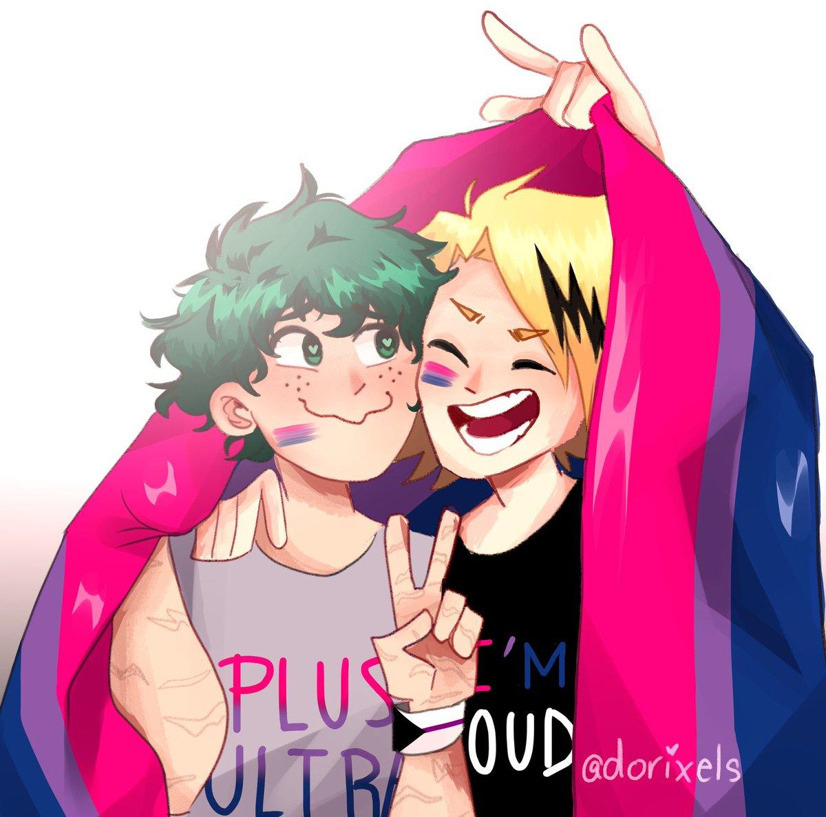 Best Bis! #PrideMonth #kamideku #kaminaridenki #midoriyaizuku