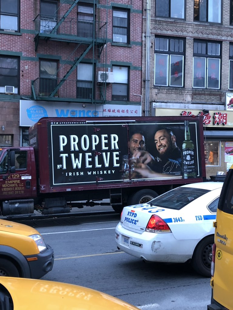 "RT @Brenjamin13: @TheNotoriousMMA. The Champ Champ in the Big Apple. ""I run New York City"" the whiskey is great ???????? https://t.co/vKPOY2WvhI"