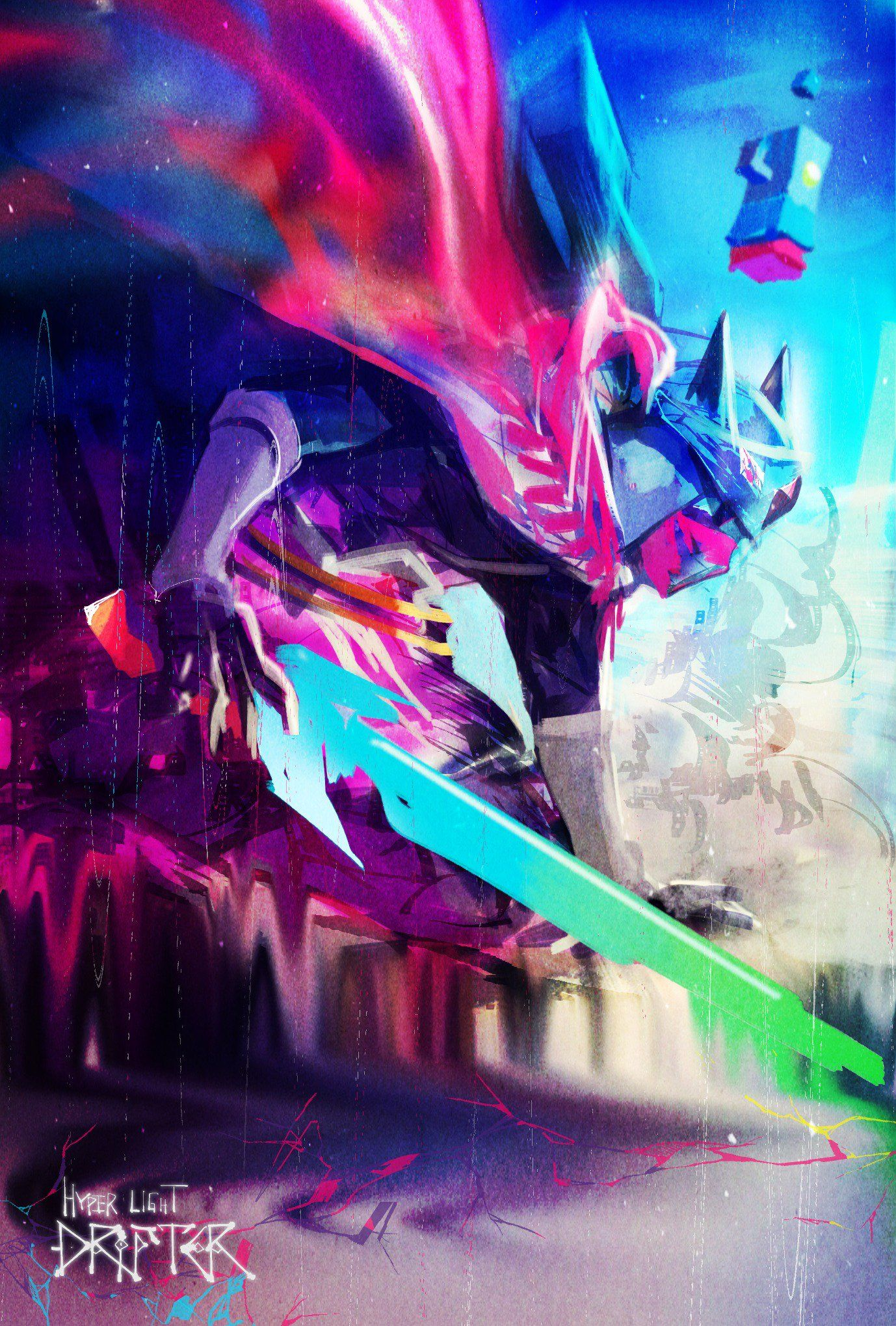 The Fearless Drifter by @tyokobanana (´⊙ω⊙`)!Arigato gozaimasu! #FearlessFriday #Fanappreciation #fanart #hyperlightdrifter https://t.co/UURvztydgb