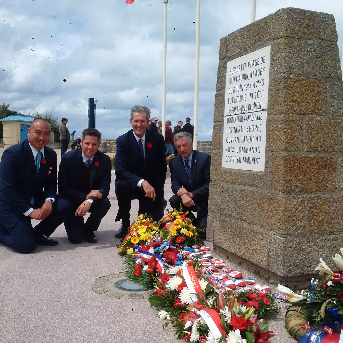 test Twitter Media - Joined by my colleagues @Min_Pedersen and @jonreyes204, and @Mayor_Bowman at a wreath laying for the Fort Garry Horse Commemoration in Saint Aubin-sur-Mer #Juno75 https://t.co/nHM5oEo7w8